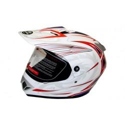 Закрытый шлем CFMOTO V370 белый/красный