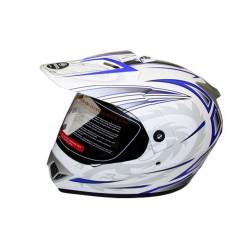 Закрытый шлем CFMOTO V370 белый/синий